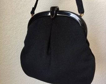 40s Handbag Lucite closure Wool Great condition