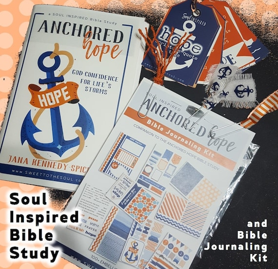 """Soul Inspired - Bible Study + Journaling - 100+ piece KIT - """"Anchored Hope"""""""