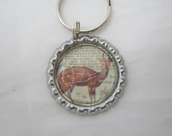 Antelope Bottlecap Keychain