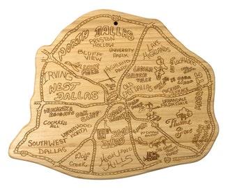 Dallas Engraved Cutting Board