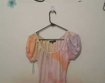 Women's Watercolor Wonder Blouse. Size X-Small, Free Shipping