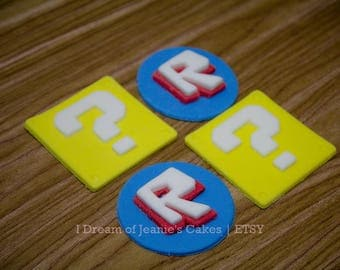 ROBLOX Video Gamer and Lucky Blocks, Birthday Cupcake Toppers