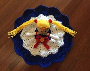 Crochet Sailor Moon Doll, Lovey, Security Blanket