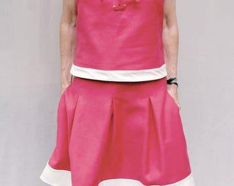 Pink and beige skirt