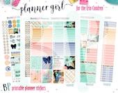 Erin Condren // Planner Girl Weekly Kit // Printable Planner Stickers // Cut Line Files // Planner Printable //  Planner Stickers Printable