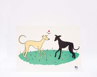 Blade greyhounds loves Doggie (1)