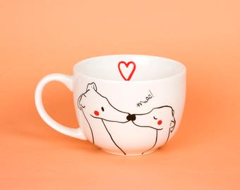 Greyhounds Kiss couple Cup