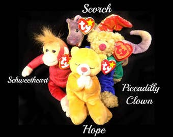 TY stuffed toys - Ty beanie baby - Ty plushies - Ty collectible - Ty Hope - Ty Piccadilly Clown - Ty Scorch - Ty Schweetheart -# 46