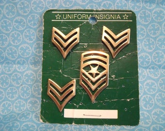 US Army Insignia Pins Sergeant and Master Sergeant