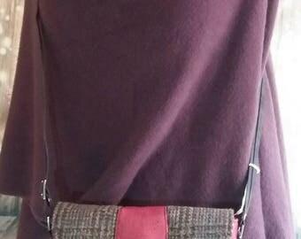 Harris Tweed Houndstooth Cross Body Bag/Handbag/Bag/Gifts for her/