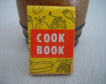 Miniature Book ~ Cookbook ~ Kitchen ~ Recipes ~ Vintage ~ Miniature ~ Fairy garden ~ Dollhouse ~ Terrarium ~ Accessories