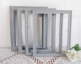 Rustic Grey Picture Frame 8x10 Photo Decoration Up Cycled Vintage Wood Country Farmhouse Lake House Cabin Home Decor Shabby Chic Wedding
