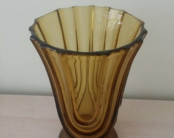 Art Deco Amber Vase by Walther Sohne/Germany
