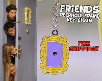 FRIENDS tv show frame KEY CHAIN Friends peephole frame friends series door frame llavero marco puerta cadre rahmen keychain F.R.I.E.N.D.S