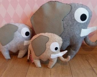 handsewn felt elephant