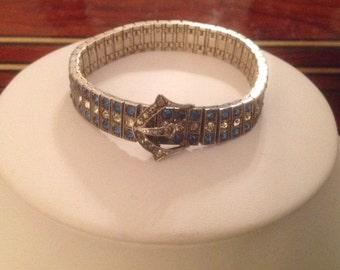 WACHENHEIMER BROTHERS DIAMONBAR Art Nouveau Sterling Silver Buckle Bracelet...1917