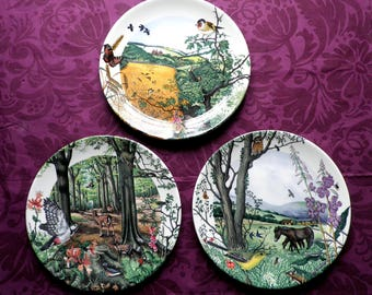 3 x Colin Newman Country Panorama Plates    Collectable  Vintage