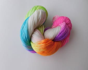 Day hand dyed sock yarn/wool