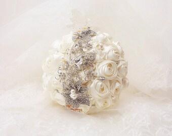Elegant Handmade Wedding Brooch Bouquets Bridal Bouquet/Corsage