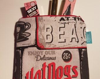 Retro Delicious Hotdogs Makeup Bag