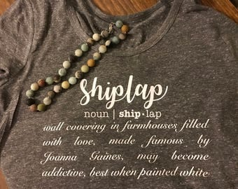 Shiplap soft scoop neck tee