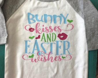 Easter raglan baby girl shirt