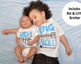 Big Brother Little Brother - Matching Brother Shirt - Brother Shirts - Big Brother Gift -  Pregnancy Announcement - New Baby