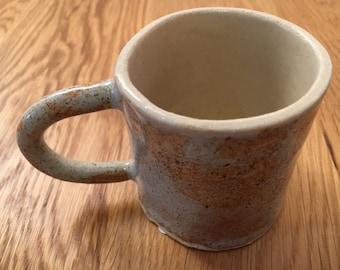 Handmade Espresso Cup / Cream Speckle Cup / Coffee Cup /  Small Coffee Mug / Pottery Mug