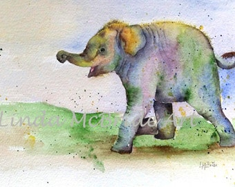 Baby Elephant 5x7 Blank Greeting Card with Envelope