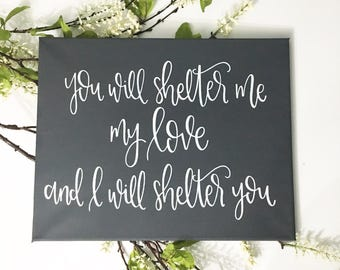 I Will Shelter You - Canvas
