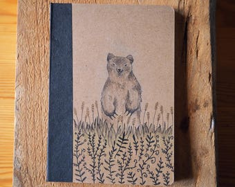 Unique pocket sized hand drawn notebook