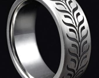 laser engraved silver 8mm wedding ring /  engraved ring /engraved wedding ring / mens 8mm wedding ring / silver ring / laser ring/ engraved