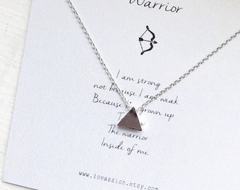 Tiny Triangle necklace, silver triangle necklace, silver tiny triangle necklace, dainty jewelry