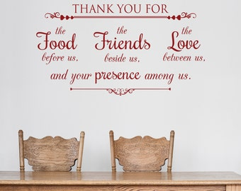 Thank You For - Vinyl Wall Decal Quote