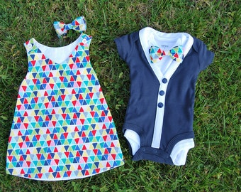 Twin Boy and Girl Outfits
