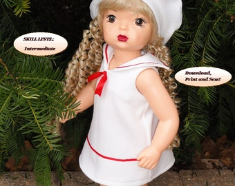 Doll Clothes PDF Pattern for 16'' Terri Lee Doll by NVME  TERR -20 : Dress and Hat