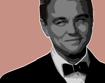 Leonardo DiCaprio Square Print