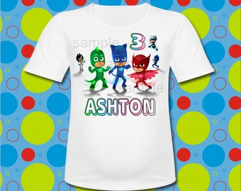 Personalized Pj Masks T Shirt all SIZES available PJ Masks Birthday T Shirt