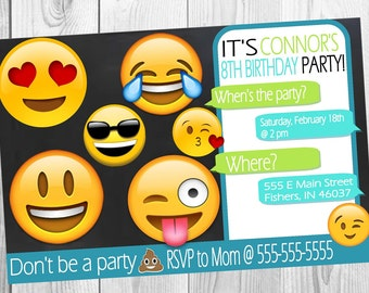 Emoji Birthday Invitation