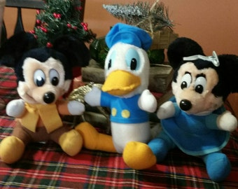 Mickey's Christmas Carol Plush Toys  Mickey/Minnie/Donald/McDonald's Promo Toys/Retro Christmas Gift/Nostalgic Christmas Stocking Stuffers
