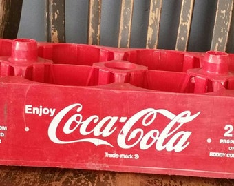 Coca-Cola Plastic Crate/2 Liter Coke Bottle/Storage Crate/Upcycle Project/Succulant Planter/Soda Crate/Vintage 1980s/Storage Crate/Crafting