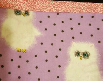 Fluffy Owl Pillowcase, Horned Owl Pillowcase, Personal Pillowcase, Flannel Pillow Case