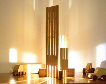 EBRINO Lamp in Sipo and Bamboo