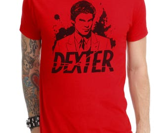 Dexter t-shirt # 2 hand-painted Dexter handpainted t-shirt # 2