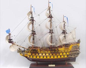 "Soleil Royal - Royal Sun Ready Display Ship Model 37"""
