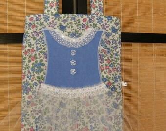 Tutu Tote Bag, Girl's Tutu Bag, Upcycled Tutu Tote Bag, Cloth Tutu Purse, Blue Tutu Tote Bag