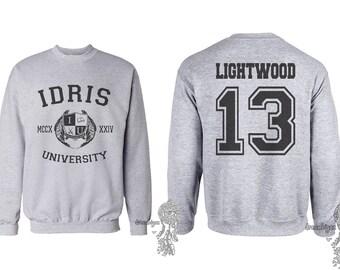 Lightwood 13 Idris University Crew neck Sweatshirt Light Steel