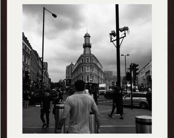 London Print, London Photography, London Art, King's Cross St Pancras, Street Photography, Gritty, Urban Art, Art Print, Wall Art, Square