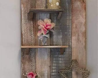 natural wood shelf
