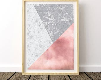 Marble Wall Decor, Rose Marble Print, Rose Gold Marble, Watercolor Marble, Marble Print, Marble Decor, Marble Wall Print, Scandinavian Style